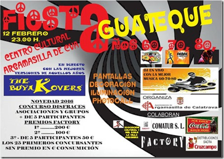0 CARTEL FIESTA GUATEQUE 2016