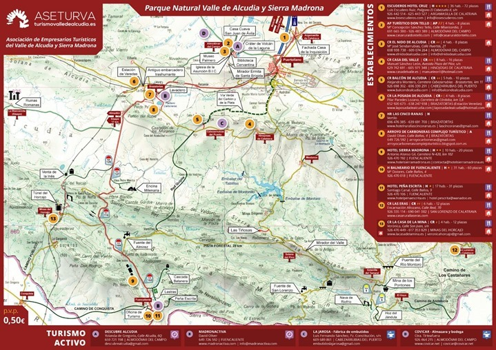 Mapa comarcal localizador ASETURVA