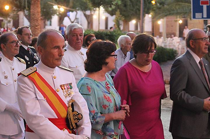 La delegada del gobierno regional en la provincia de Ciudad real, Carmen Teresa Olmedo, participó en las fiestas de la Virgen del Carmen , en Viso del Matqués