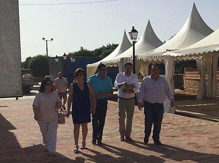 El vicepresidente de la diputación, Manuel Martínez López, ha visitado Membrilla