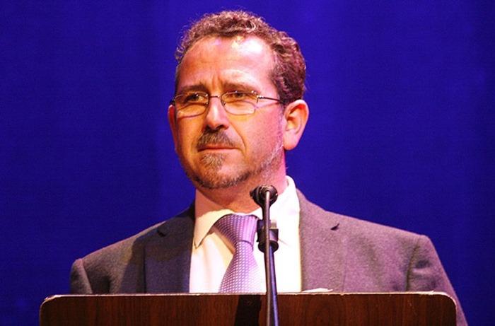 Luis Díaz-Cacho en el recital del libro 'A risas con la palabra' realizado en Almagro