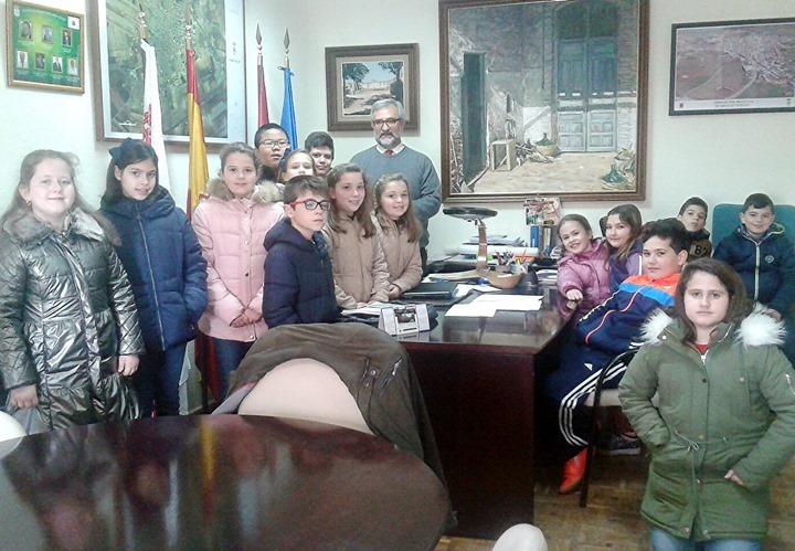 Junto a Sánchez Ciudad, en su despacho de Alcaldía