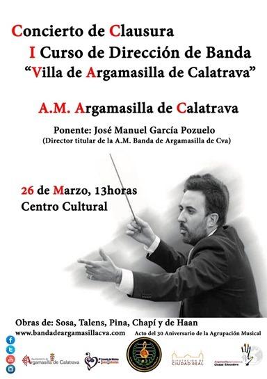 Cartel del programa de Curso de Director de Banda