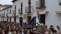Los almagreños acompañan a su Patrona de regreso a la ermita Nuestra Señora de las Nieves
