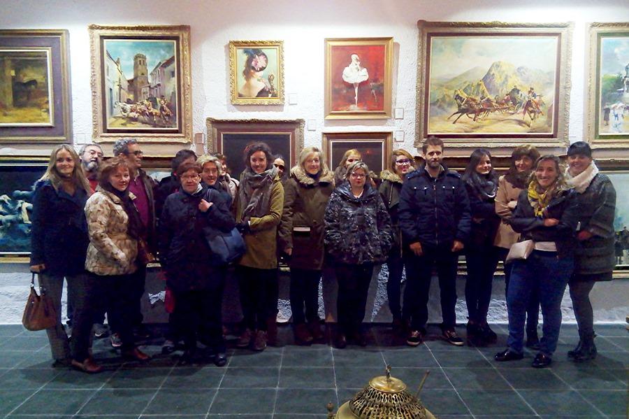 Grupo de almodovareños, en el Museo Palmero
