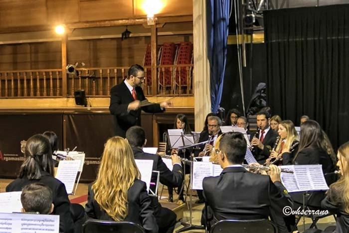 Otro momento del concierto de clausura del curso de Bandas
