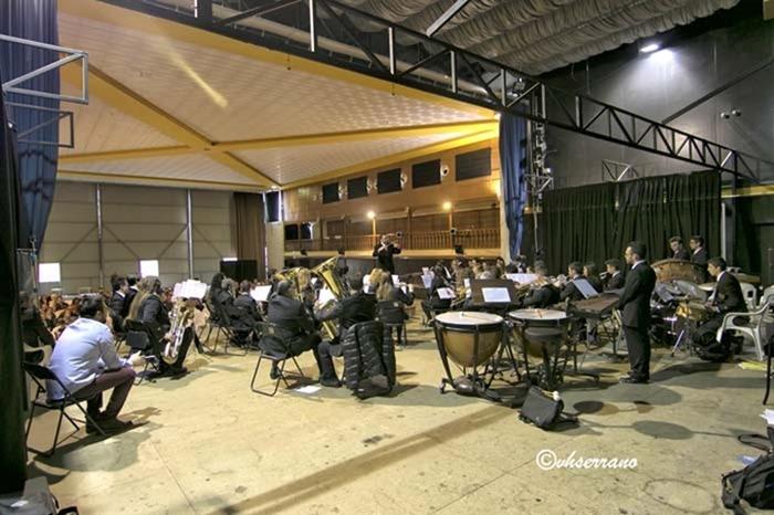 Un momento del concierto de clausura del curso de Bandas