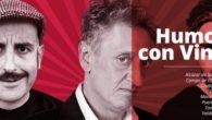 Enrique San Francisco, Agustín Duran y Raúl Ferve en 'Humor con Vino', el lunes en el Teatro Auditorio de Valdepeñas