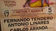 Los diestros Fernando Tendero y Antonio Linares, y el novillero Carlos Aranda, en el Festival Taurino de Carrión del 17 de abril