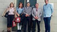 Siro Ramiro aborda con los responsables de la Escuela de Ingeniería Minera e Industrial de Almadén futuros proyectos para los que ofrece la colaboración del Ayuntamiento