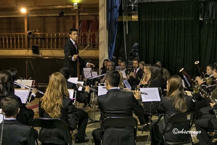 una imagén más del  momento del concierto de clausura del curso de Bandas