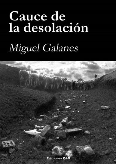Portada de la novela de Miguel Galanes Cauce de la desolación