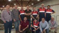 El secretario general de CCOO CLM inicia en una empresa de Alovera (Guadalajara)una primera ronda de visitas a empresas de la región