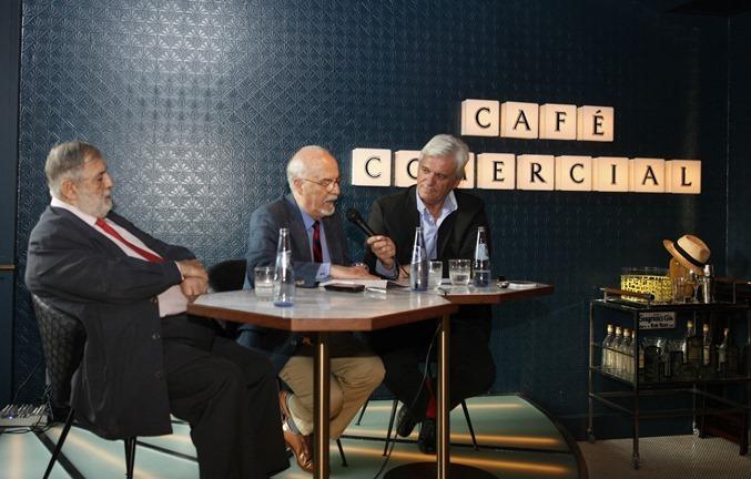 Juan Van-Hale Miguel Galanes y Rafael Soler durante la presentación