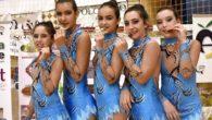 Dos jovencísimas gimnastas rítmicas de Aldea del Rey se proclaman campeonas en Jaén con el Club Volaverunt de Miguelturra