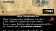 """El poeta Luis Díaz-Cacho presenta su último libro """"Cartas de amor para Mavi (1992 – 2017)"""" en el Museo Municipal de Puertollano dentro de la programación de la FELIP'17"""