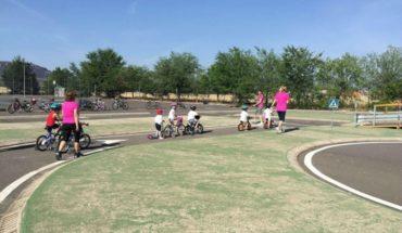 Escolares del 'Rodríguez Marín' aprenden normas de tráfico en el Circuito de Seguridad Vial de Argamasilla de Calatrava