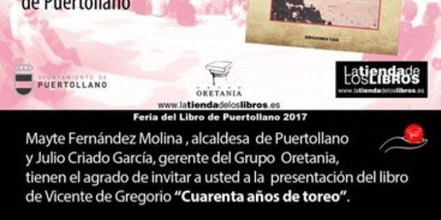 """Manuel López Rueda y Julio Bayo acompañan a Vicente de Gregorio en la presentación del libro """"Cuarenta años de toreo"""" en el Museo Municipal de Puertollano"""