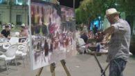 Alcázar congrega a artistas venidos de toda España para participar en el Certamen de Pintura Rápida Nocturna