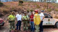 El consejero de Medio Ambiente visita el flanco Noreste del incendio de Yeste
