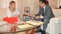 Inmaculada Jiménez trata con Caballero las inversiones de la Diputación en Tomelloso