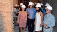 La alcaldesa de Ciudad Real, Pilar Zamora, visita las obras de rehabilitación del museo municipal Elisa Cendrero