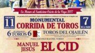 Manuel Jesús el Cid, Daniel Luque y Jiménez Fortes protagonistas del festejo taurino el 11 de agosto en Socuéllamos