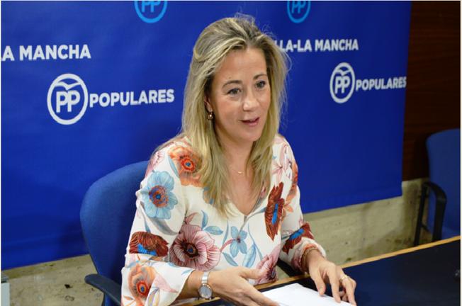 La diputada del PP, Lola Merino, en rueda de prensa
