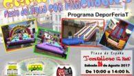 Gran Fiesta del Agua con hinchables en la Plaza de España de Tomelloso el próximo día 26
