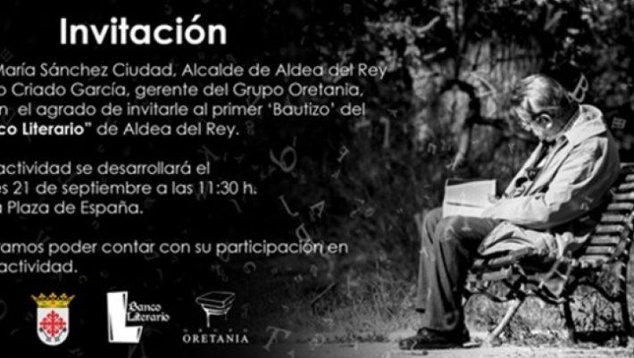 El escritor aldeano Valentín Villalón Benítez pone nombre al primero de los 'Bancos Literarios'