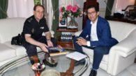 El presidente de la Diputación ha recibido al Comisario Jefe Provincial de la Policía Nacional
