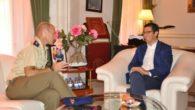 El presidente de la diputación recibió al nuevo teniente coronel de la Base de Helicópteros de Almagro Durante