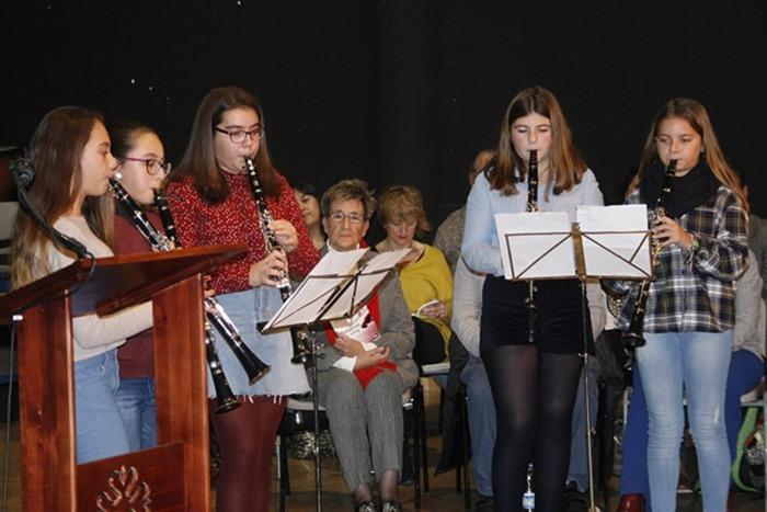 Alumnas de la Escuela de Música Municipal de Aldea