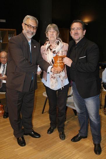 El alcalde de Aldea del Rey, junto a Graci Arias y Díaz-Cacho