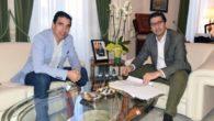 Caballero y el alcalde de Almagro repasan las inversiones de la Diputación en el municipio